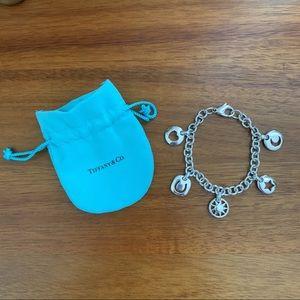tiffany & co. stencil charm bracelet